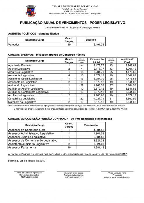 relatorio vencimentos 2017